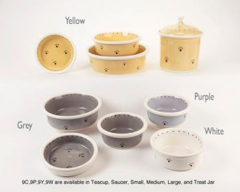 Series 9 design dog and cat bowls by Petware Pottery
