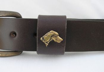 "Setter Head Belt by Royden Leather Belts - 1 1/2"" wide"