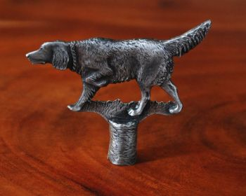 Setter pewter lamp finial by Sid Bell Originals