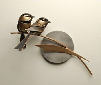 Bird Bronze Sculpture by Don Rambadt