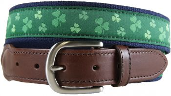 Shamrock Leather Tab Belt by Belted Cow