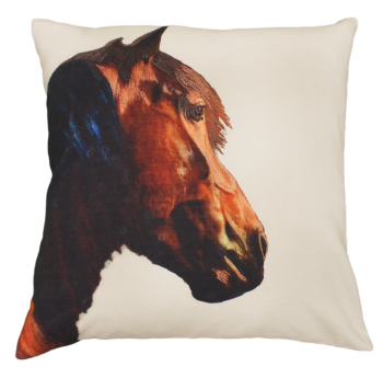 Shasta the Horse Printed Pillow by Michaelian Home