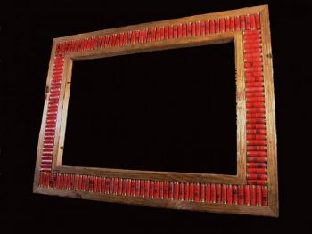 Shotgun shell Large Mirror Frame by Bruce Mrachek