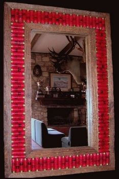 Shotgun Shell Mirror Frame - Medium Size by Bruce Mrachek