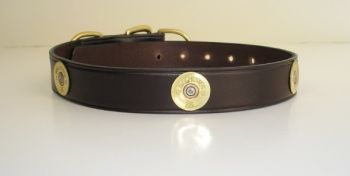 Shotshell Leather Dog Collar by Royden Leather