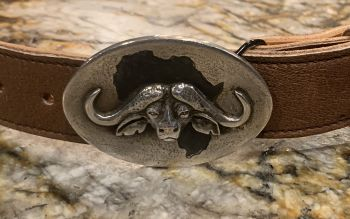 Silver Cape Buffalo buckle