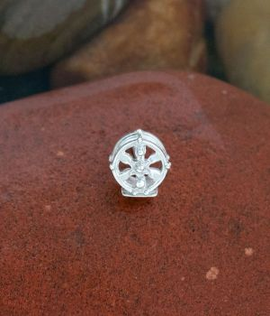 Daisy Pillars is the name of a sterling silver lapel tie tack by Tight Lines Jewerly