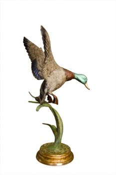 Descent at Dawn is the name of a bronze sculpture of a single mallard drake by Christopher Smith