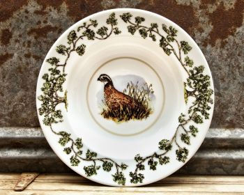 Single Quail Plantation China Bowl by WM Lamb and Son