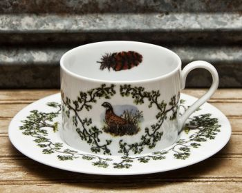 Single Quail Cup and Saucer Plantation China by WM Lamb and Son
