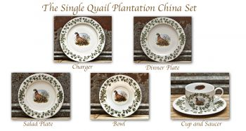 Single Quail Plantation China Set by William Lamb and Son