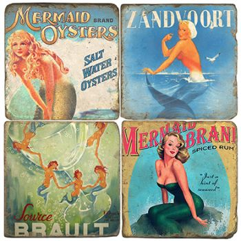 Sirens Italian Marble Coasters and Giftware