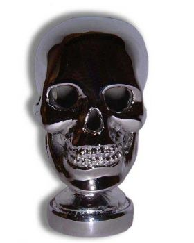 Skull Hood Ornament or Car Mascot by Louis Lejeune comes in chrome, bronze, enamel or gold plated