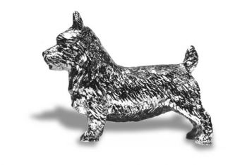 Skye Terrier Hood Ornament or Car Mascot by Louis Lejeune comes in chrome, bronze, enamel or gold plated