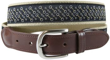 Snaffle Bit Leather Tab Belt by Belted Cow