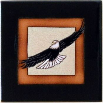 Soaring Eagle 6 x 6 ceramic tile by Maanum Custom Tiles