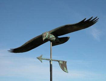 Soaring Hawk Copper Weathervane by Barry Norling