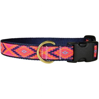 Southwest Hot Pink 1 Inch Dog Collar by Belted Cow