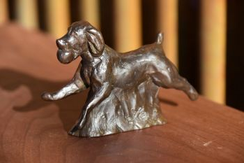 Fetch - Boykin Spaniel Sculpture by Liz Lewis