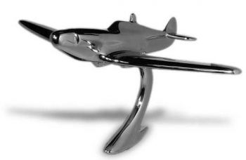 Spitfire Airplane Hood Ornament by Louis Lejeune