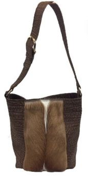 Springbok and Cape Buffalo Hide Tote