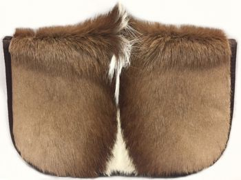 Cape Buffalo Hide Handgun Case - front