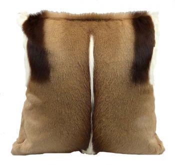 Springbok Skin Pillow - front