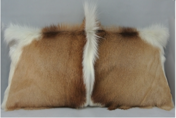 Springbok Skin Pillow - Vertical Pronk