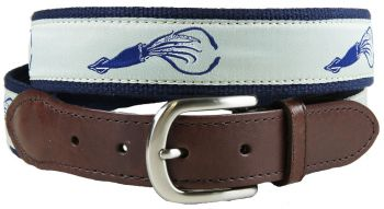 Squid Leather Tab Belt by Belted Cow