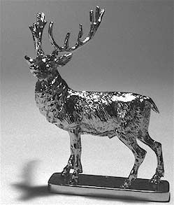 Stag - Medium - Hood Ornament or Car Mascot by Louis Lejeune comes in chrome, bronze, enamel or gold plated