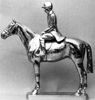"""Hunter - 5"""" Standing - Hood Ornament or Car Mascot by Louis Lejeune comes in chrome, bronze, enamel or gold plated"""