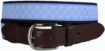 Starfish Periwinkle Leather Tab Belt by Belted Cow