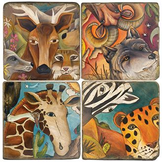 Sticks Exotic Animals Coasters