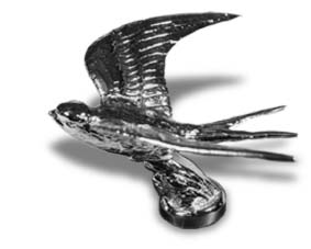 Swallow Chrome Hood Ornament by Louis Lejeune