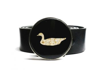 Looker Feeder Goose Eggshell Belt Buckle by Tyger Forge