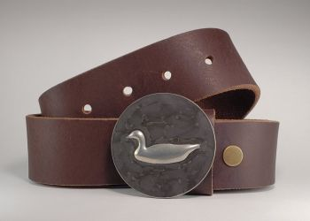 Flying Goose Hand Embossed Buckle and Belt by Tyger Forge