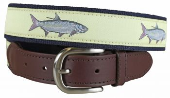 Tarpon Butter Leather Tab Belt by Belted Cow