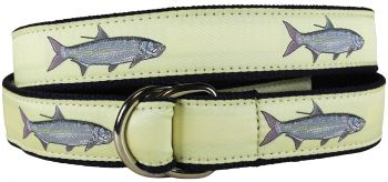 Tarpon Butter Colored D Ring Belt by Belted Cow