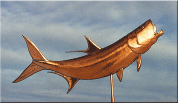 Tarpon Copper Weathervane by Barry Norling