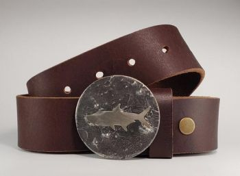 Redfish Hand Cut Buckle and Belt by Tyger Forge