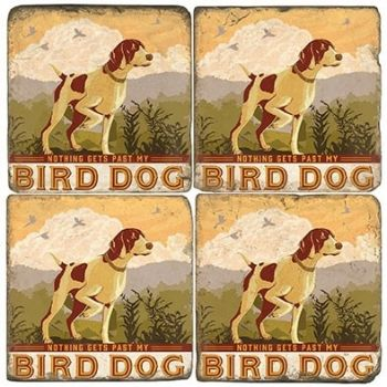 Bird Dog Italian Marble Coaster (Each or Set of 4) Studio Vertu