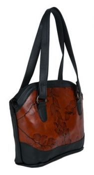 Terri Leaf Leather Tote