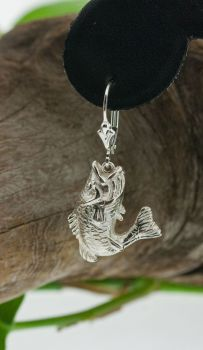 Largemouth Bass Dangle Earrings by Tight Lines Jewerly