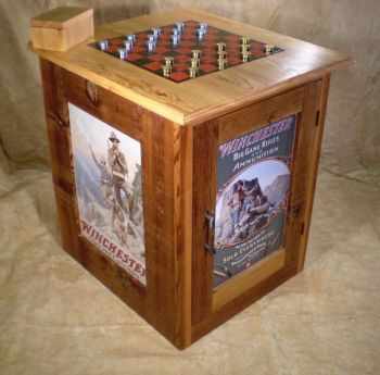 Vintage Artwork Checkerboard Table - Bruce Mrachek