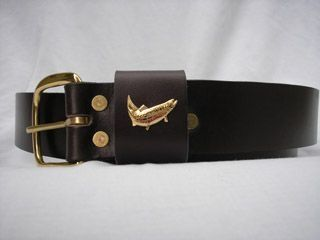 "Trout Leather Belt - Royden - 1 1/4"" wide"