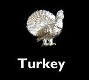Turkey Sterling Silver Cufflinks by Louis Lejeune