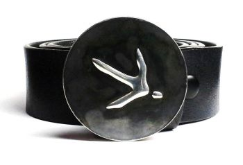 Quail Hand Embossed Bucle and Belt by Tyger Forge