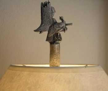 Turkey Oval Lamp Finial - Design by Sid Bell