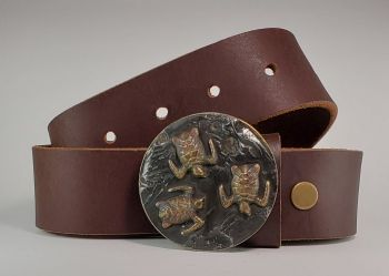 Turtles on the Beach Momma and Babies Buckle and Belt by Tyger Forge
