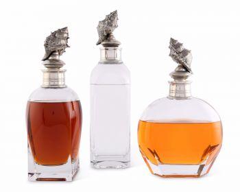 Vagabond House Conch Shell Liquor Decanters